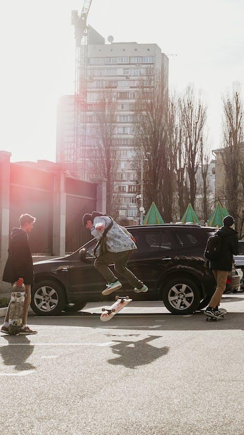 açık hava, ağaçlar, aksiyon, araba içeren Ücretsiz stok fotoğraf