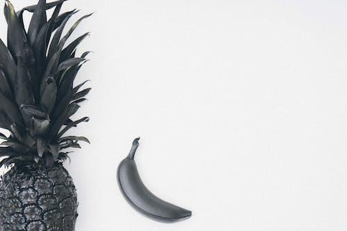 Gratis lagerfoto af ananas, banan, flatlay, frugter