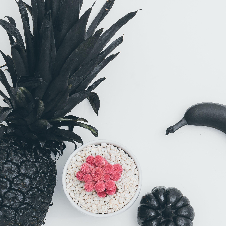 Free stock photo of art, plant, pineapple, black