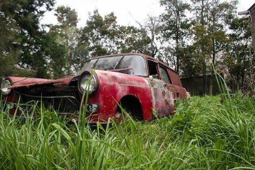Kostenloses Stock Foto zu altes auto, auto, rot, rotes auto