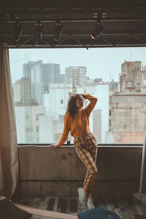 インドア, ガラスの窓, スタイル, ファッションの無料の写真素材