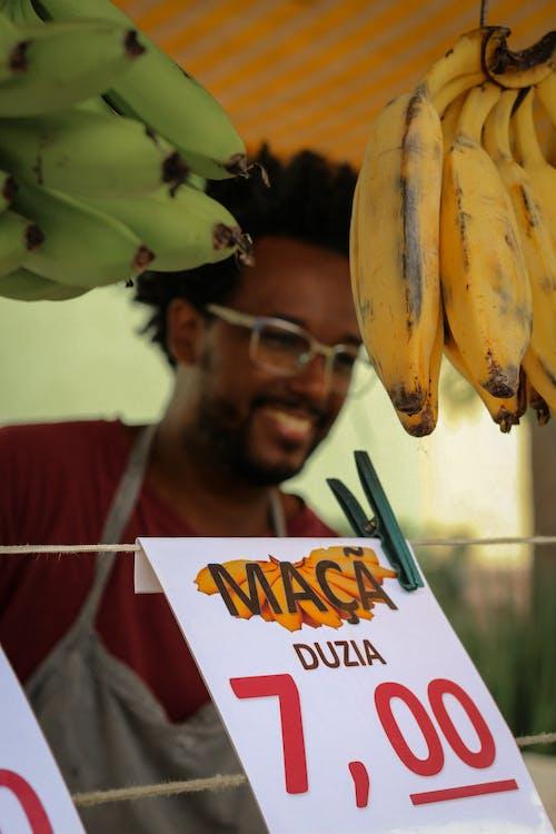 Foto profissional grátis de alimento, bananas, close