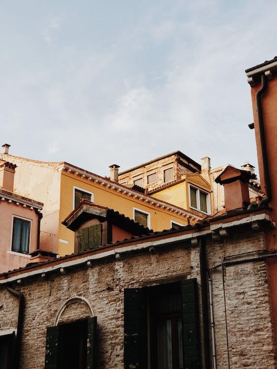 architectuur, betonnen muur, buiten