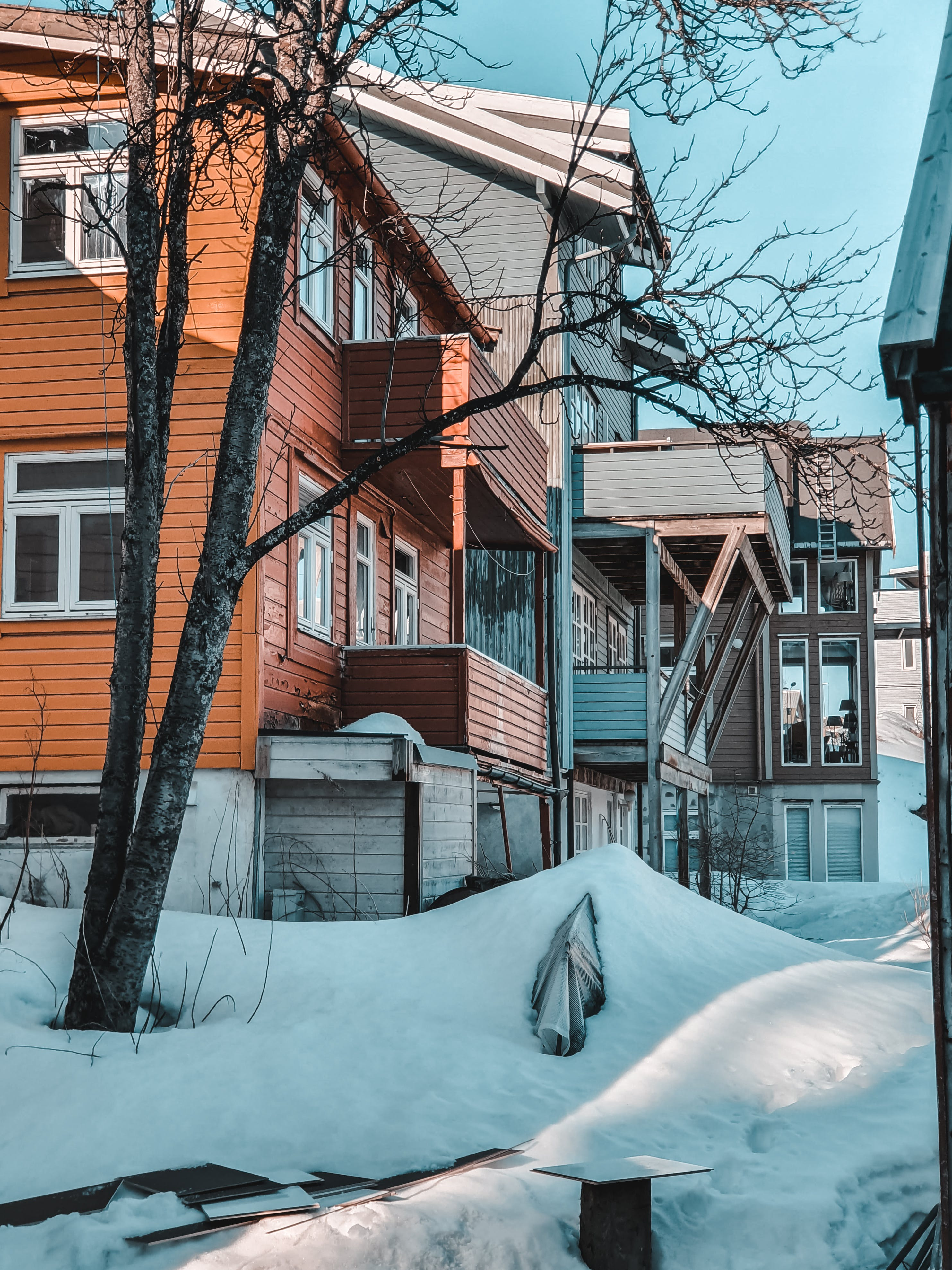 Бесплатное стоковое фото с архитектура, городской, дома, зима