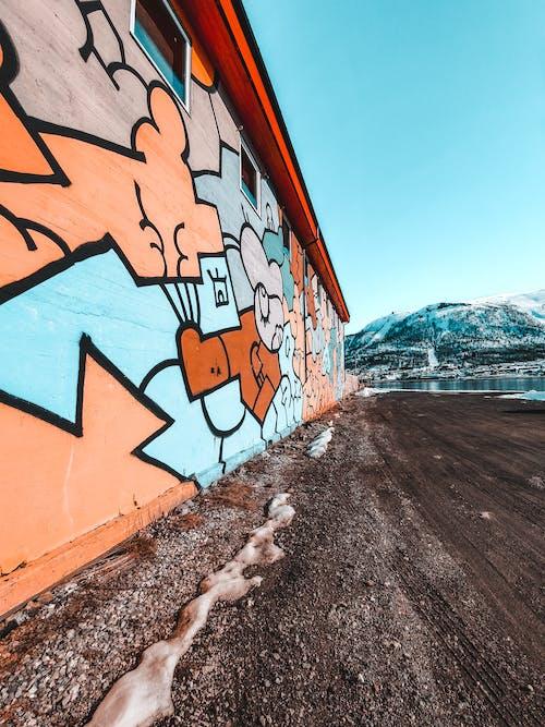 Foto d'estoc gratuïta de a l'aire lliure, arquitectura, art mural, artístic