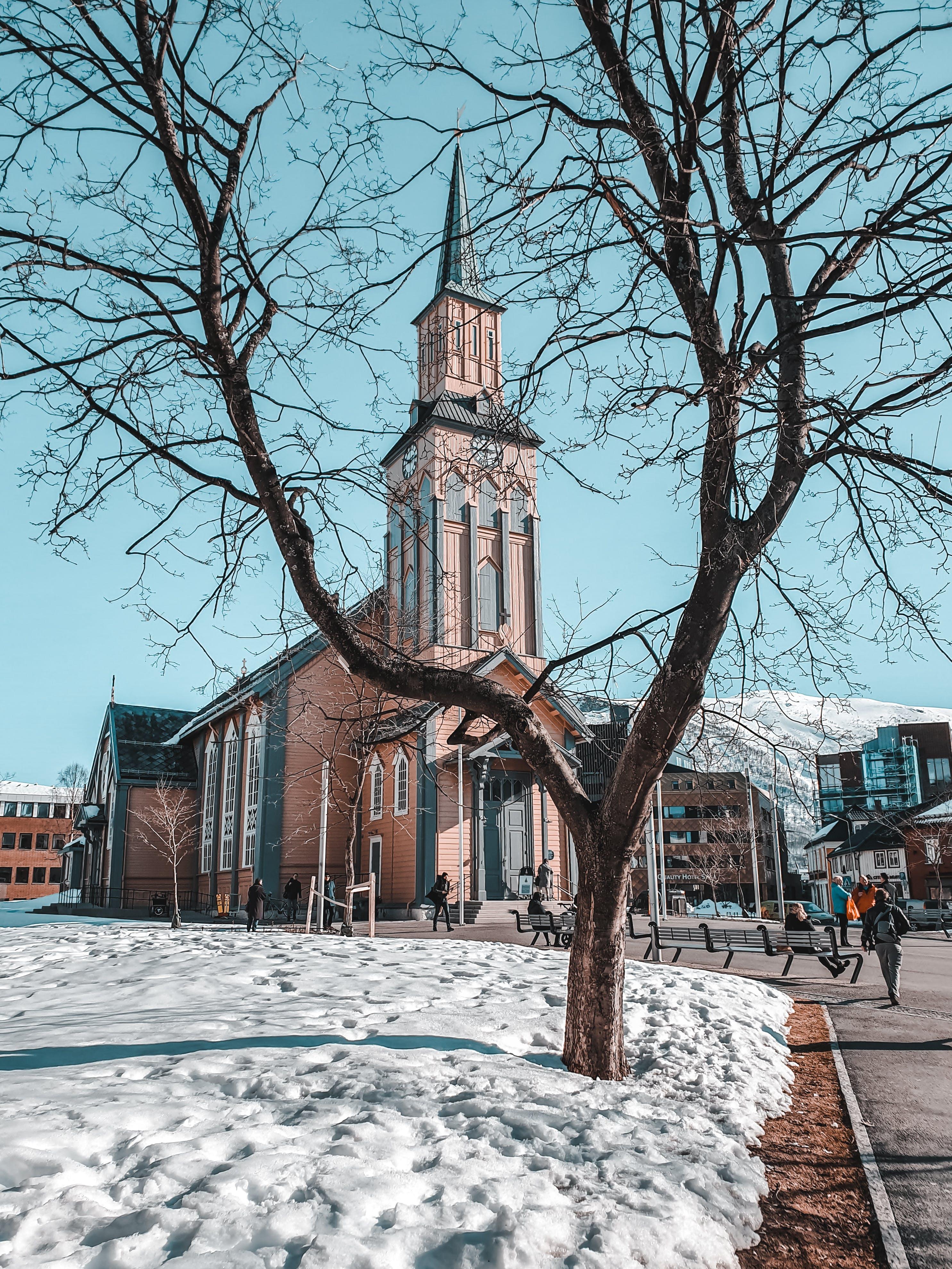 Бесплатное стоковое фото с архитектура, здание, зима, простуда