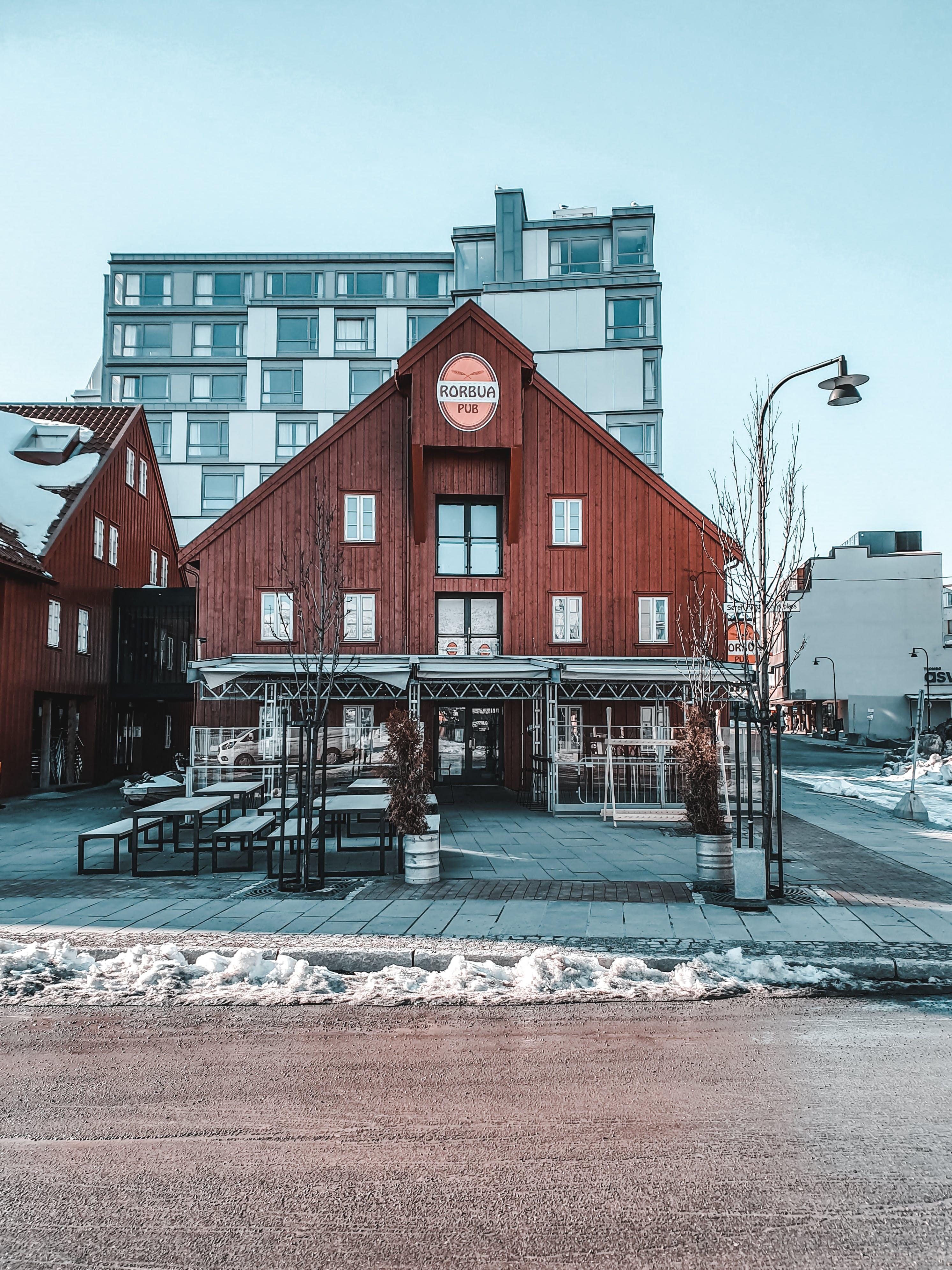 architektura, asfalt, budovy