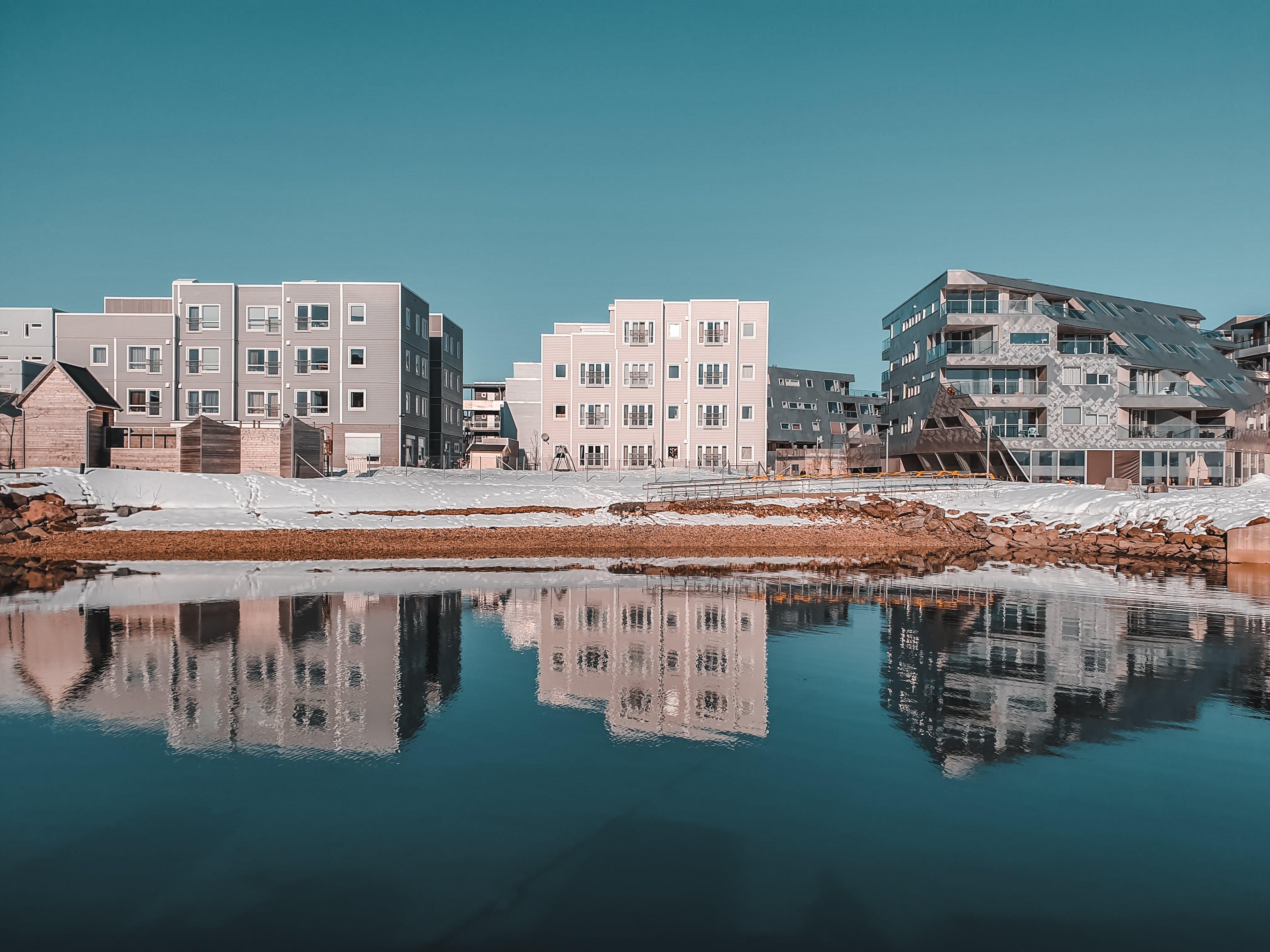 architektur, gebäude, reflektierung