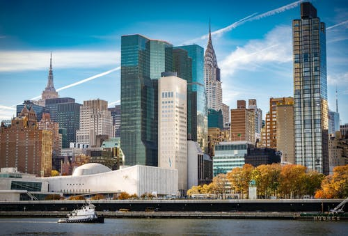 Free stock photo of chrysler building, east river, east side manhattan, empire state building