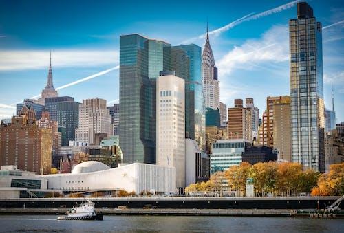 คลังภาพถ่ายฟรี ของ ตึกระฟ้า, ตึกเอ็มไพร์ส, อาคารไครสเลอร์, แมนฮัตตัน