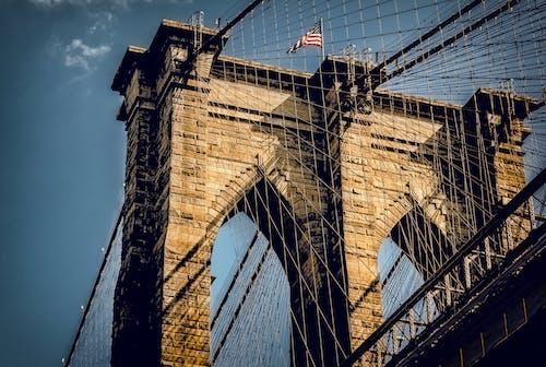 คลังภาพถ่ายฟรี ของ นิวยอร์กซิตี้, วอลล์เปเปอร์เมืองนิวยอร์ก, สะพานทาวเวอร์, สะพานบรูคลิน