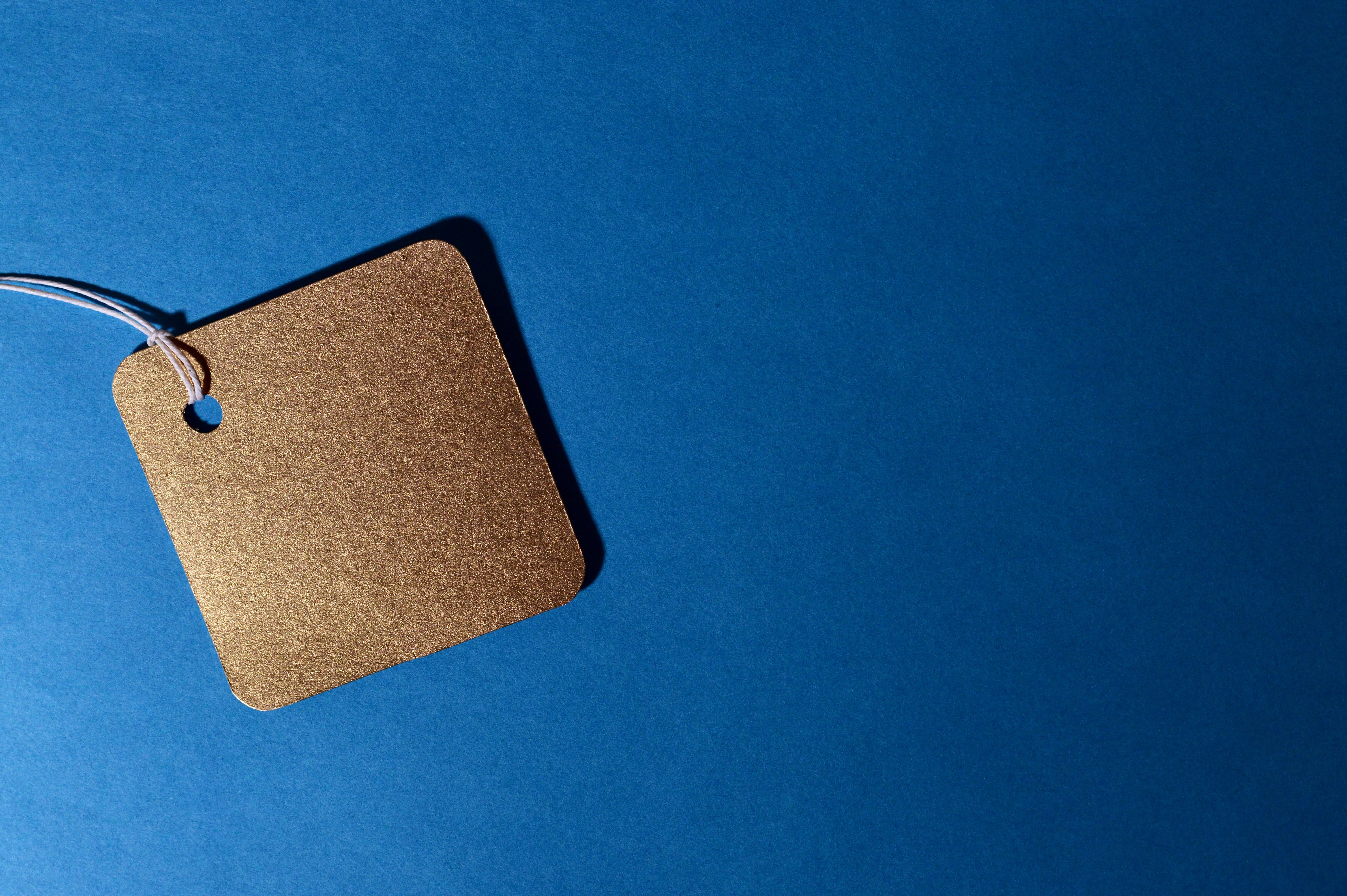 Kostenloses Stock Foto zu blau, business, etikett, etikette