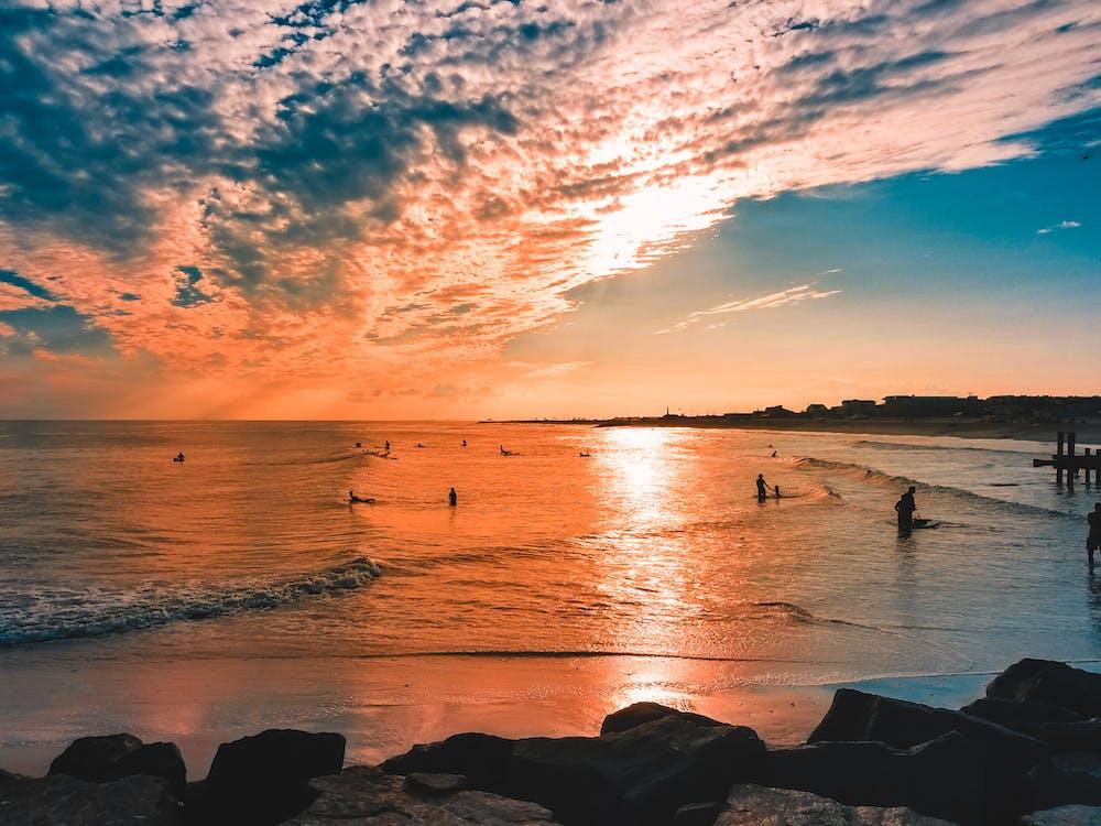 4k-baggrund, bølger, efterglød