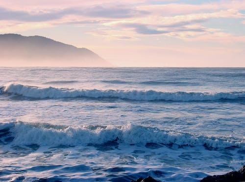 Gratis arkivbilde med bølger, hav, kveld, landskap