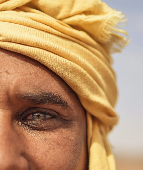 Man Wearing Yellow Turban