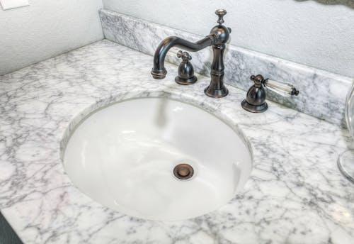 Free stock photo of bath, bathroom, faucet, granite