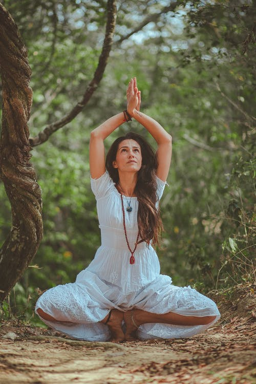 Woman in Meditating Position
