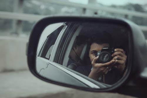 Бесплатное стоковое фото с photograhy, автомобиль, зеркало, камера