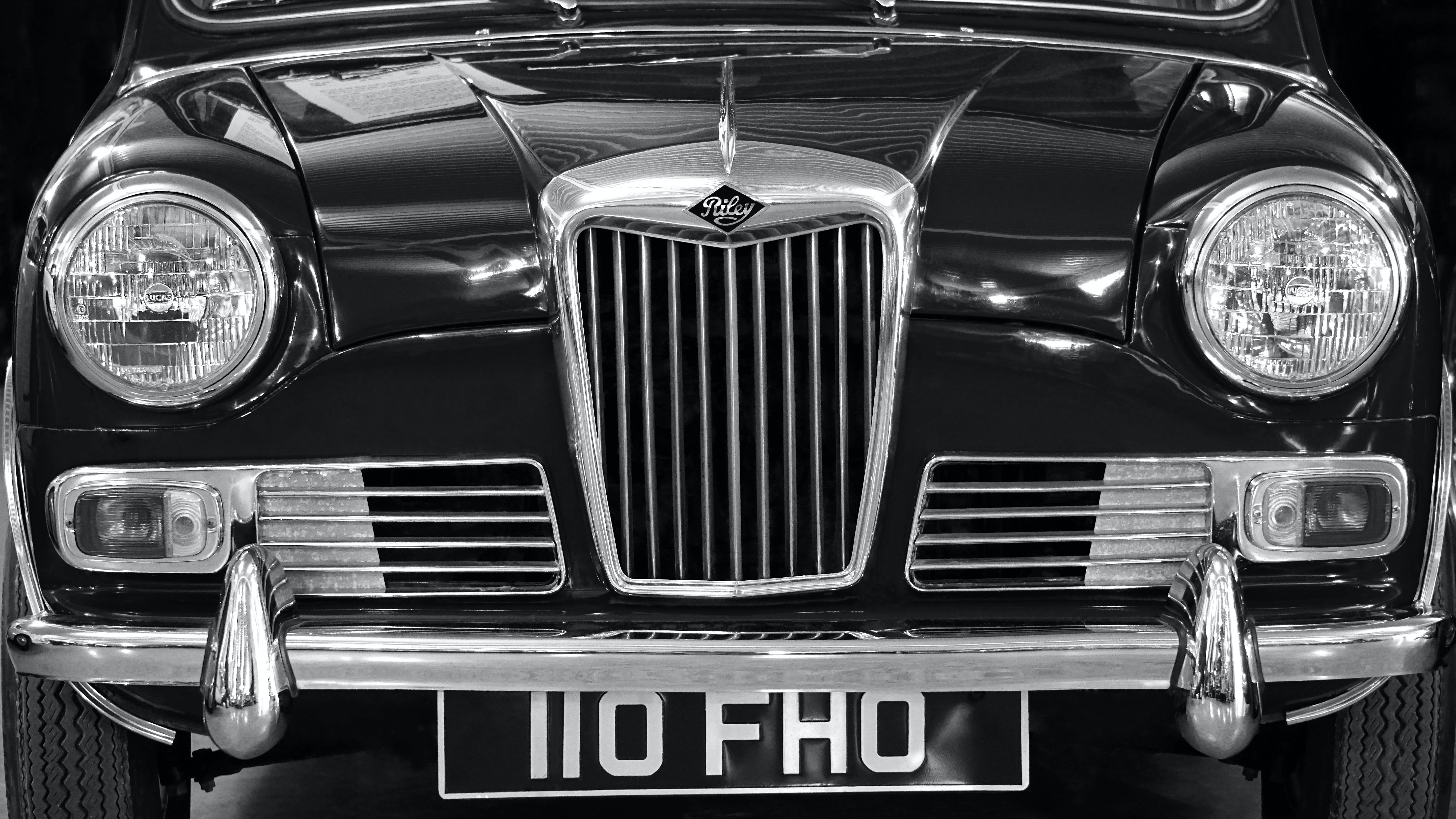Car in Front View Showing Grille