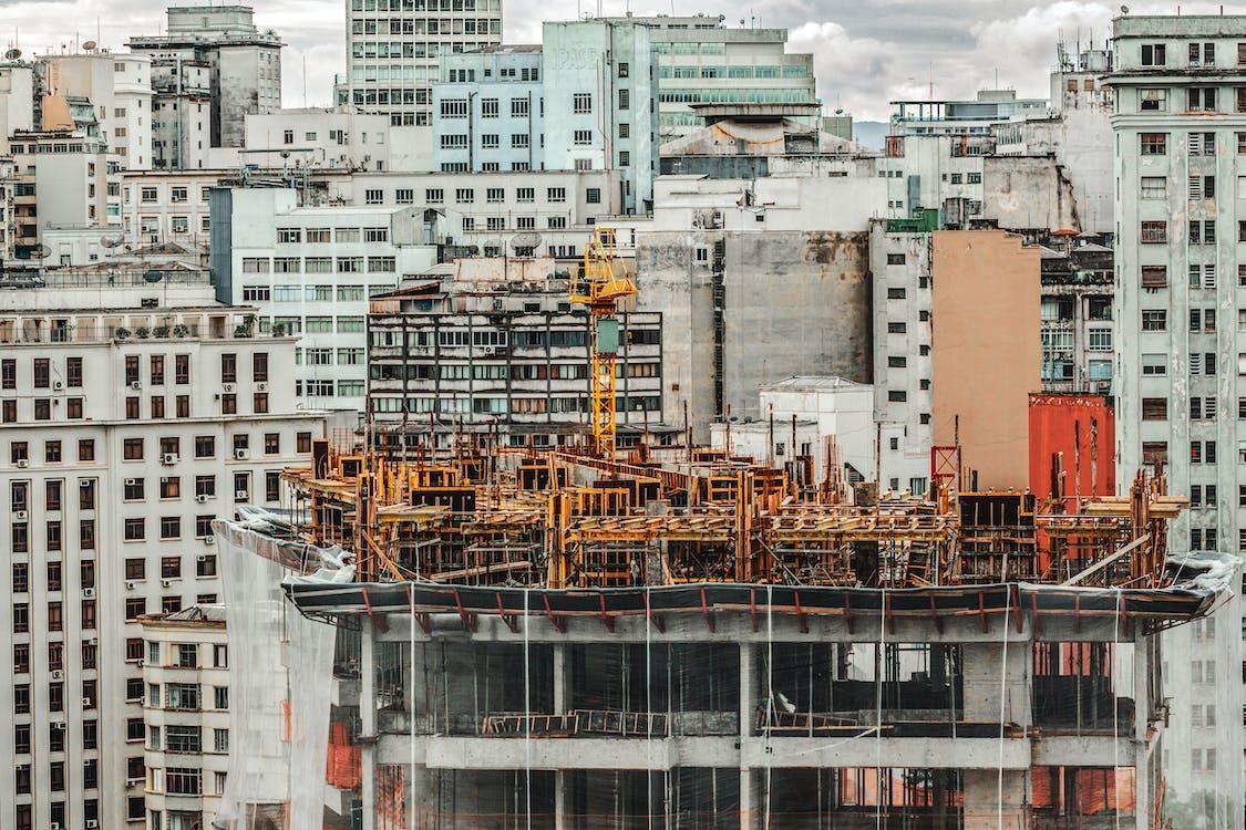 Yellow Scaffolding Building