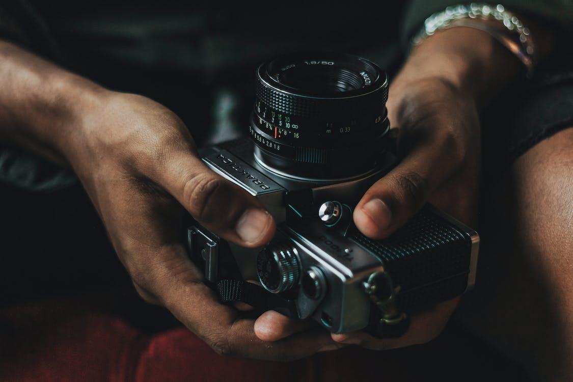 남자, 사진작가, 손