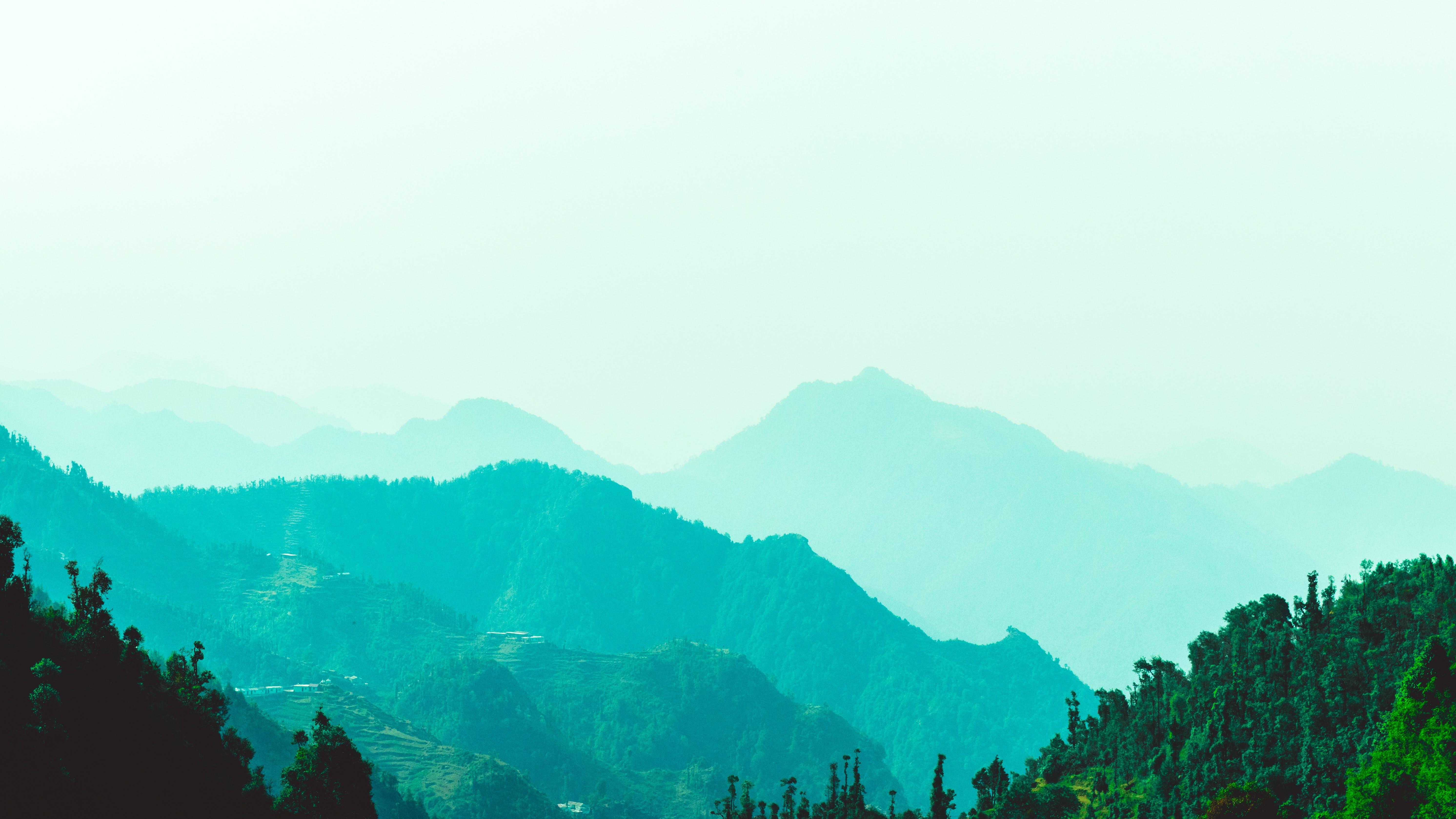 자연의 아름다움, 푸른 산의 무료 스톡 사진