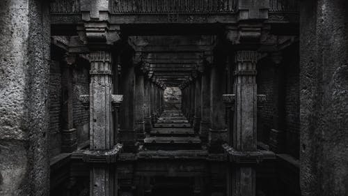 Free stock photo of ancient, architecture, art, black and white