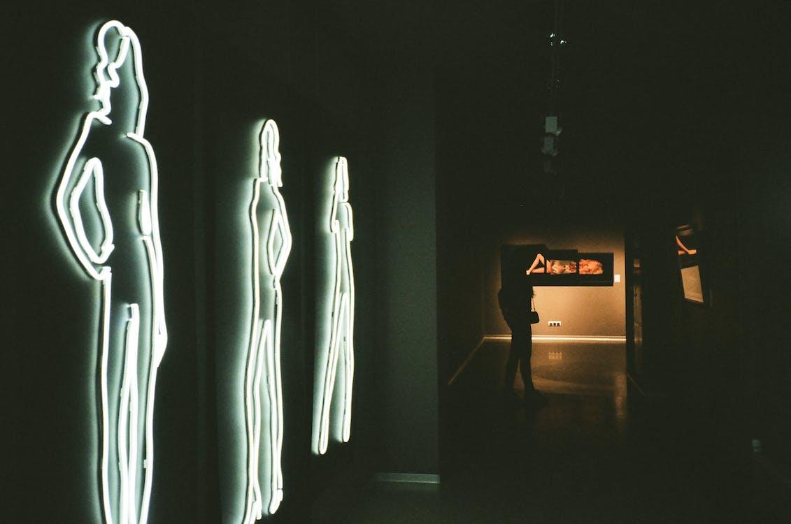 간판, 그래픽, 네온 불빛