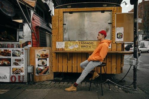 おとこ, オレンジ, シティ, タウンの無料の写真素材