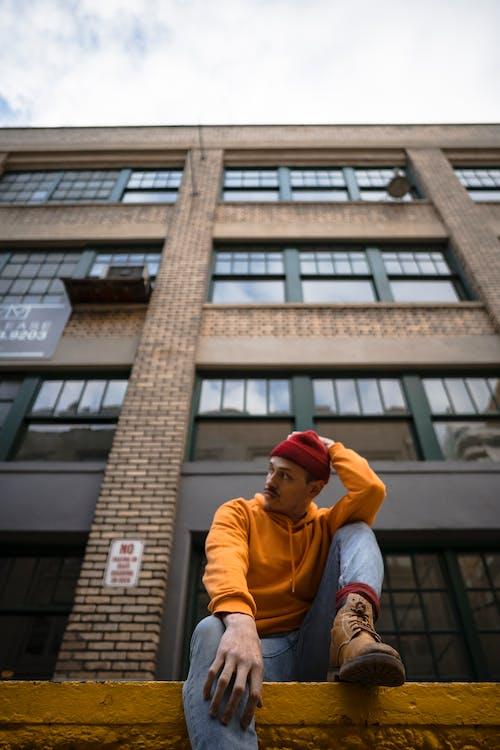 architecture, bâtiment, bonnet rouge
