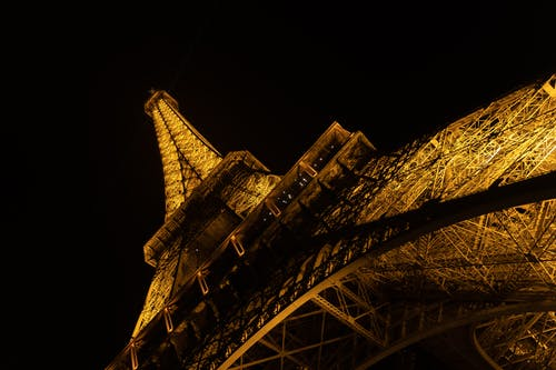 Free stock photo of eiffel tower, Metal structure, night