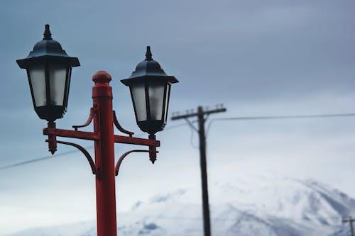 Základová fotografie zdarma na téma drát, krajina, obloha, pouliční lampa