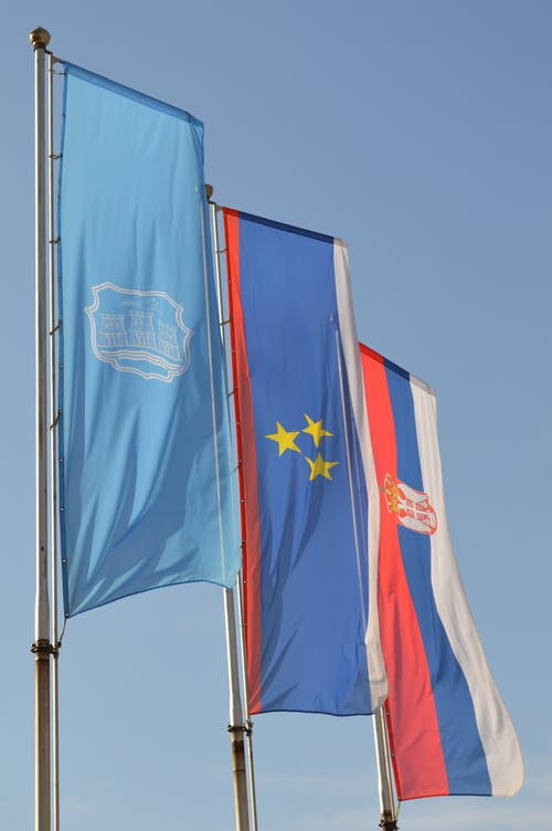 Free stock photo of flags, serbia