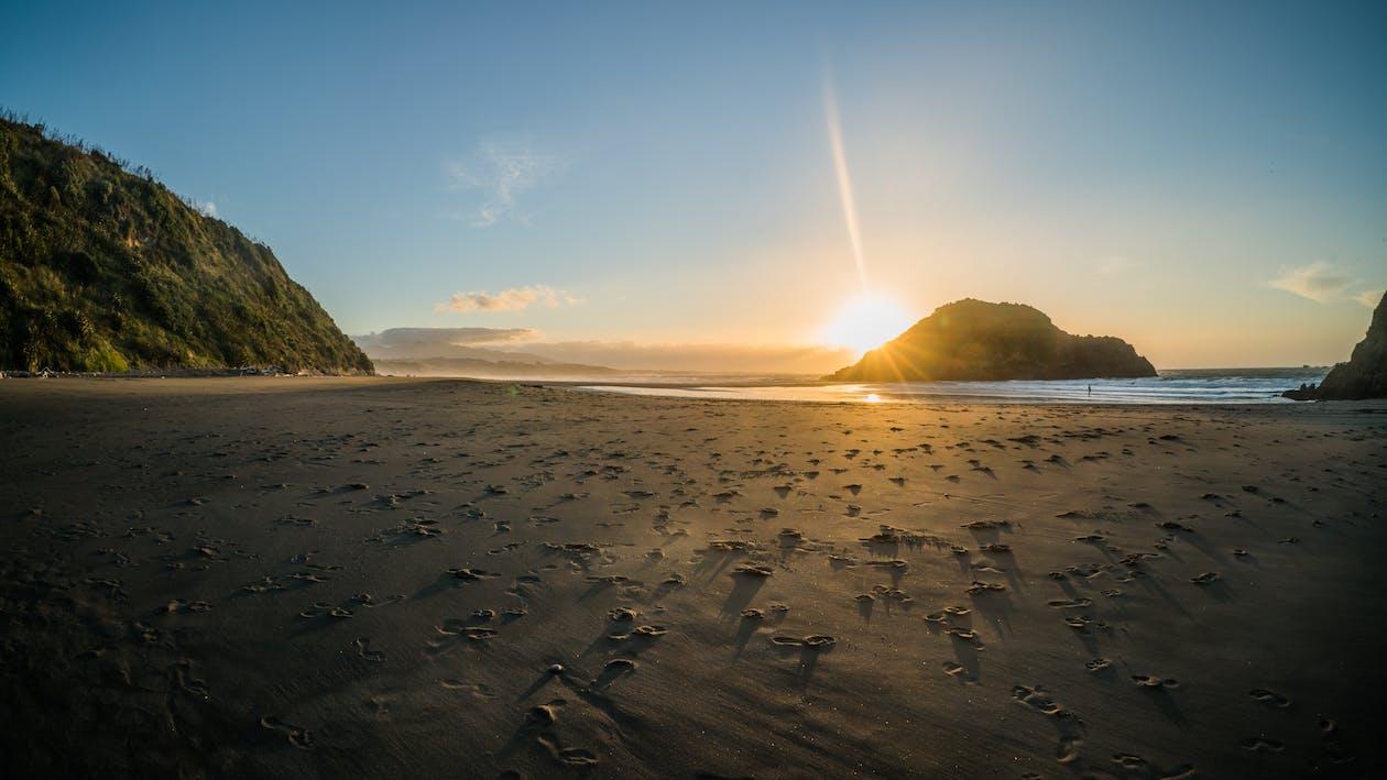 bãi biển mùa hè, bờ biển, cuộc sống mùa hè