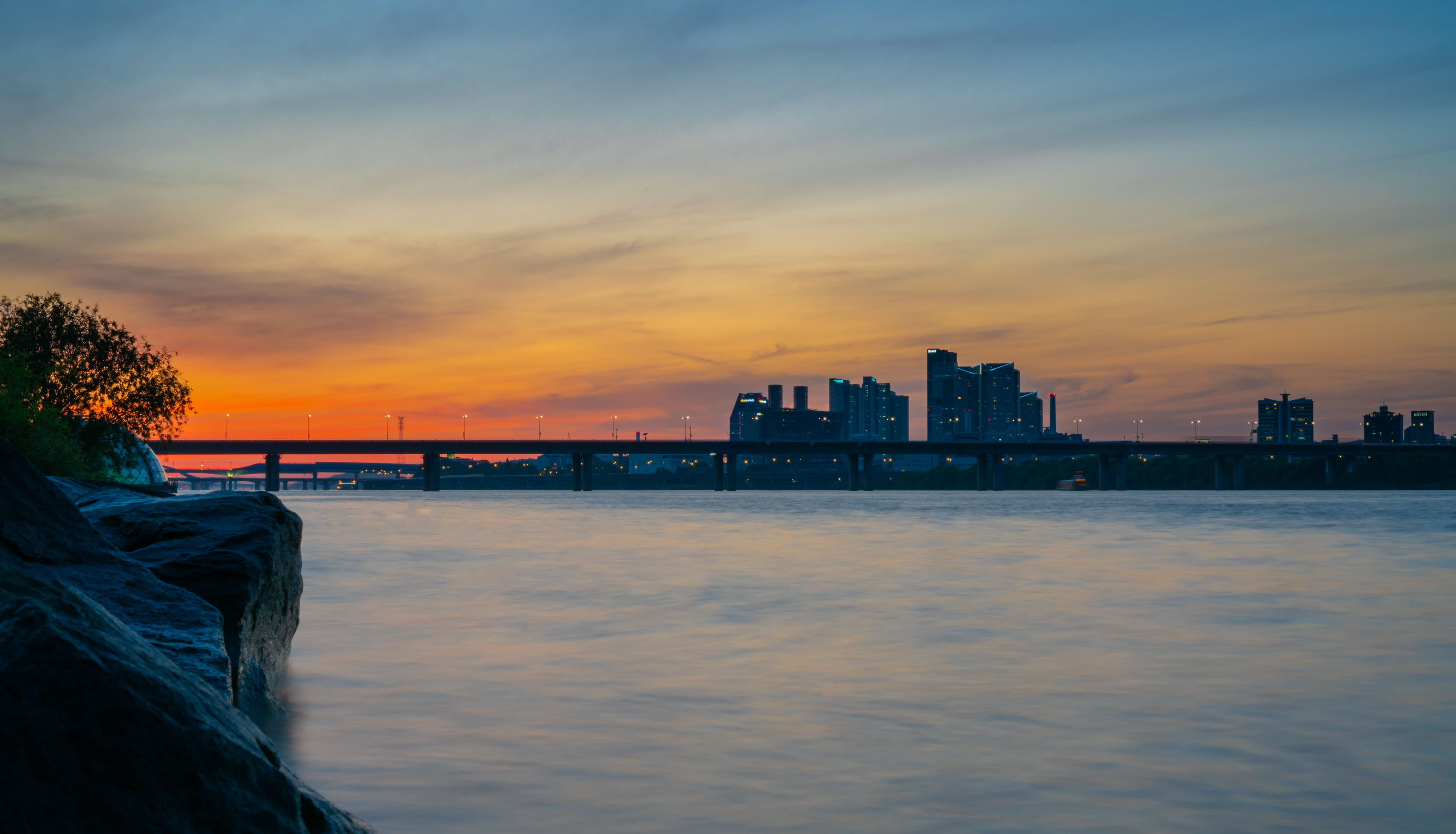 Gratis lagerfoto af arkitektur, bro, bygninger, flod