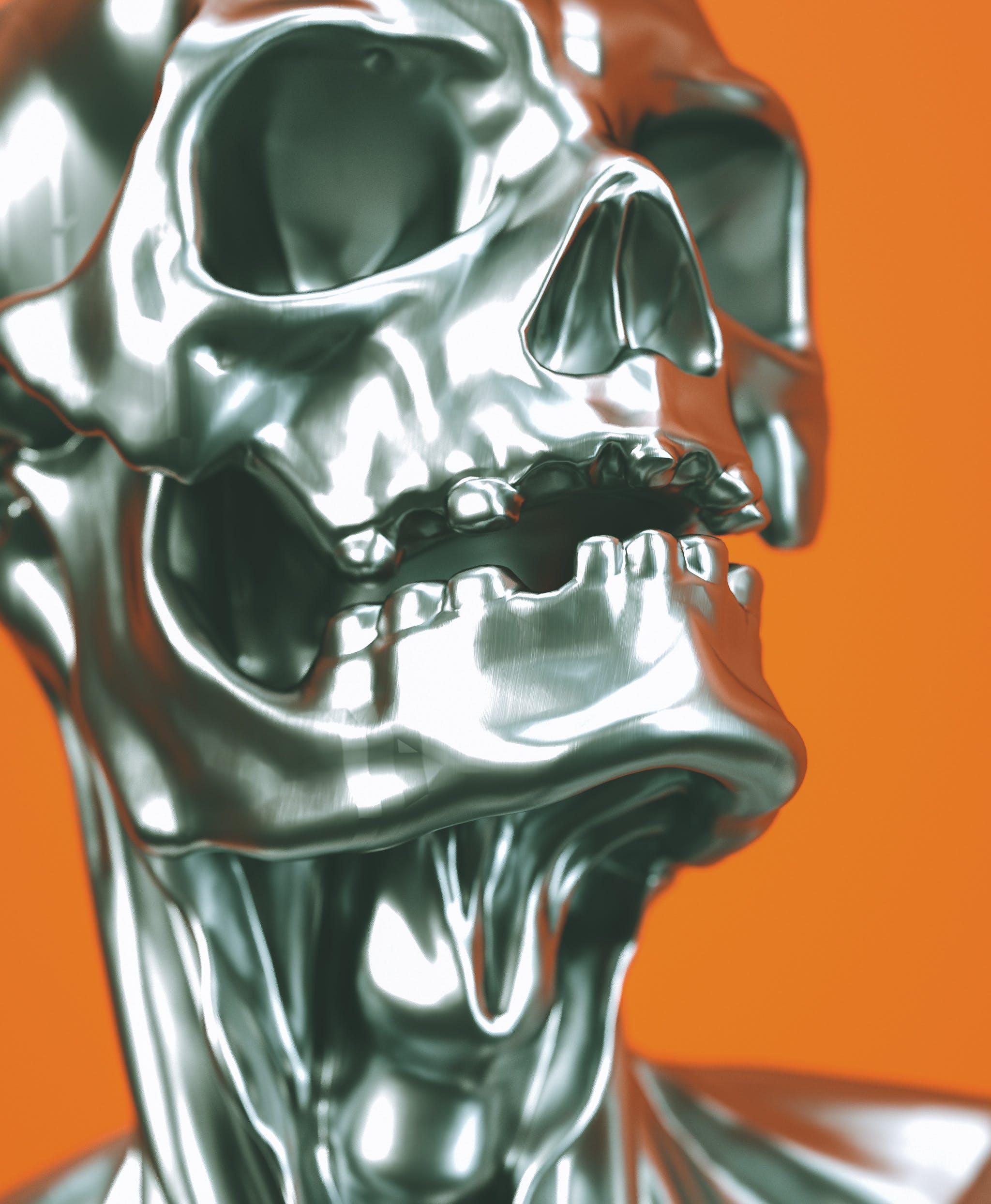 Foto d'estoc gratuïta de calavera, disseny, esquelet, horror