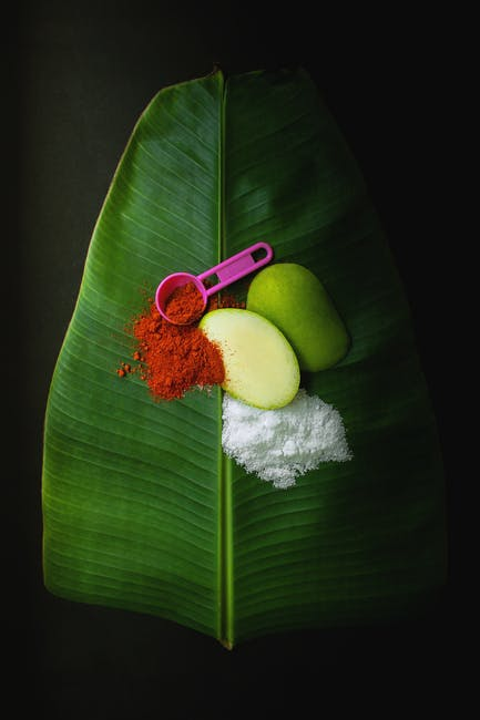 Green mango with chili powder