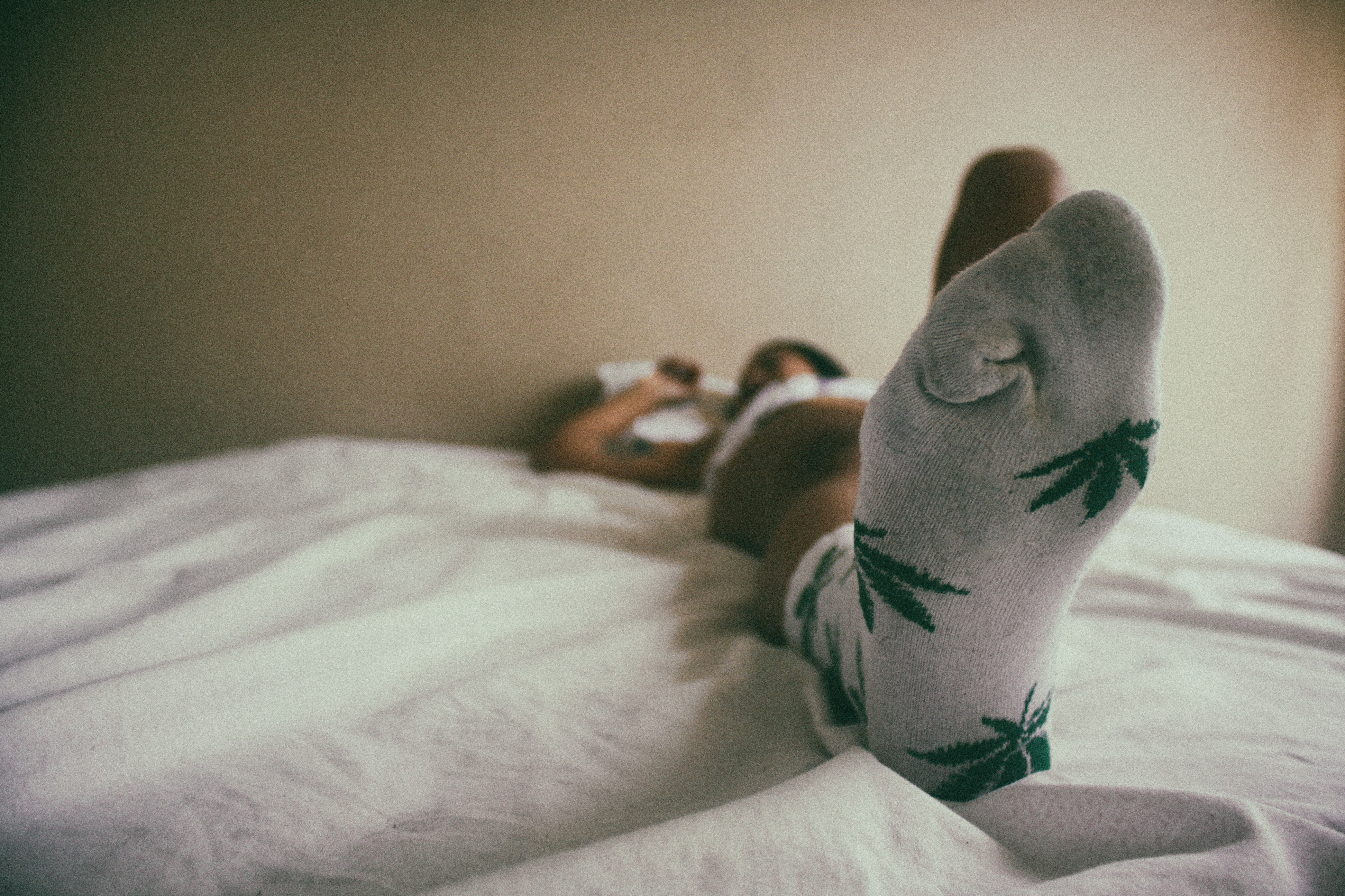 Close-Up Photo of Person Wearing Socks