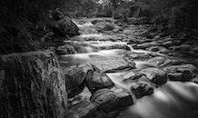 black-and-white, landscape, nature