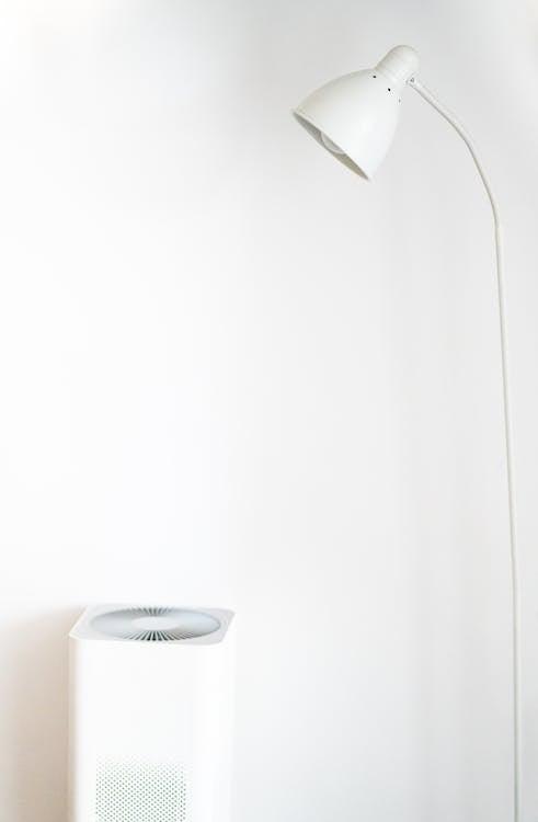 abajur, abstrato, branco