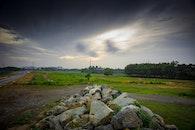 road, landscape, rocks
