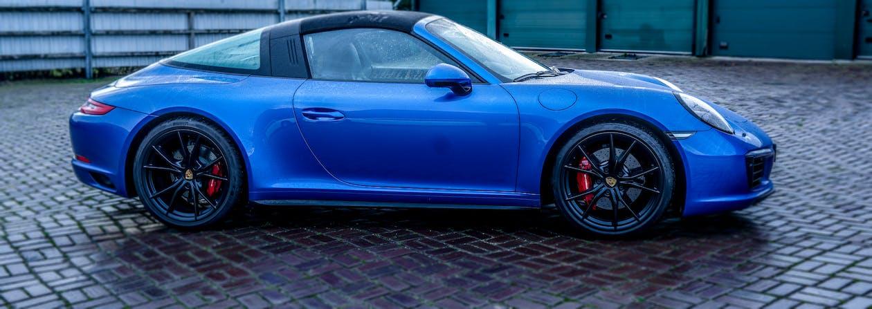 911, blue car, porsche