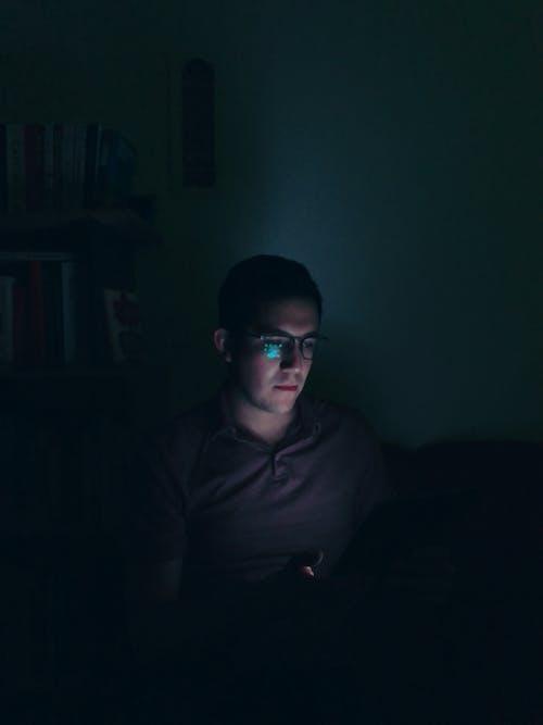 คลังภาพถ่ายฟรี ของ iPad, กลางคืน, ทัชสกรีน, น้ำเงิน