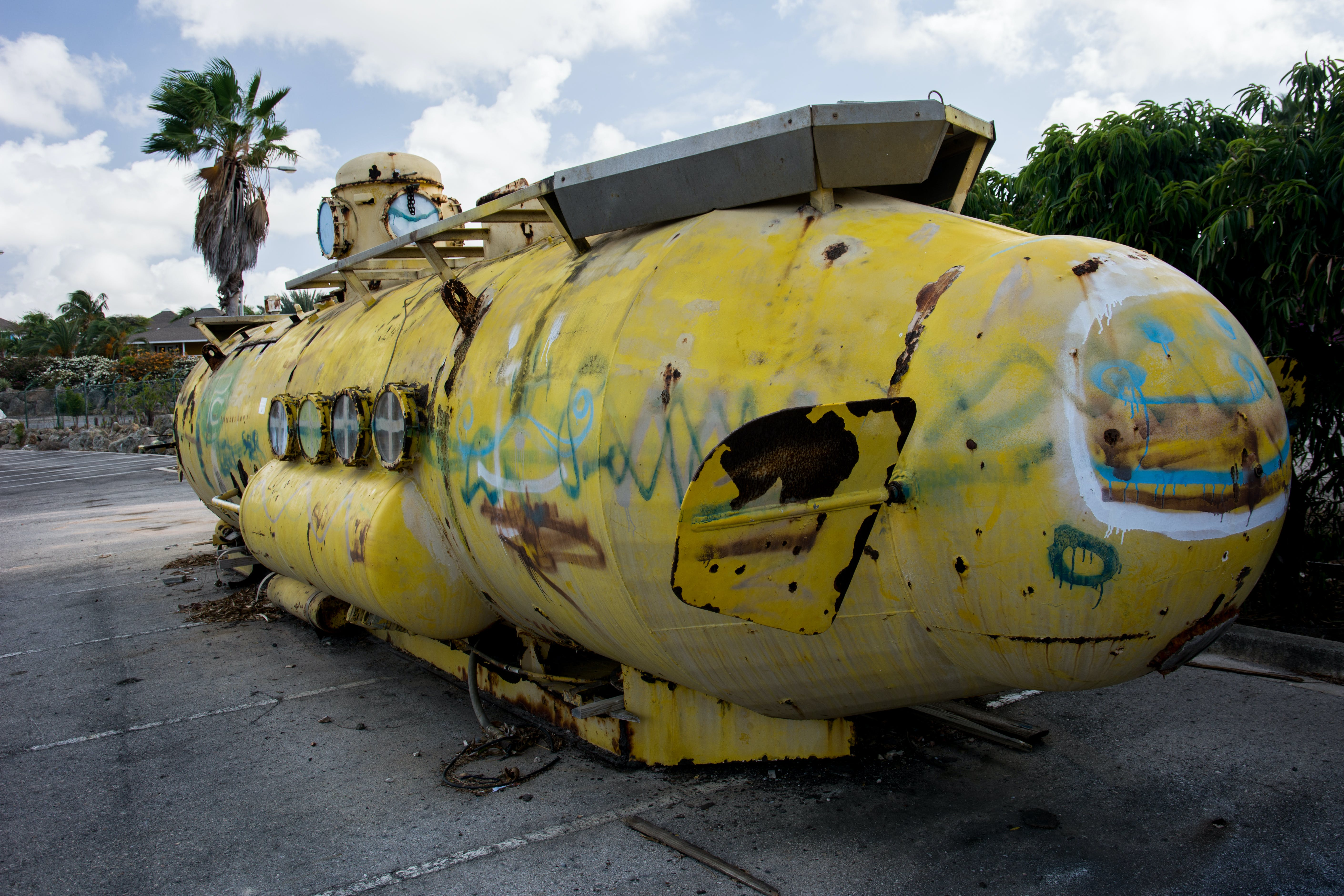 graffiti, old, submarine