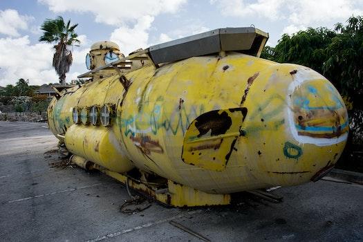 Free stock photo of graffiti, old, submarine, u-boat
