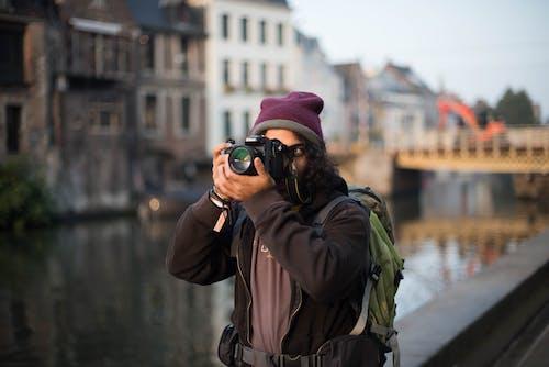 Základová fotografie zdarma na téma batoh, Belgie, černé vlasy, cestování