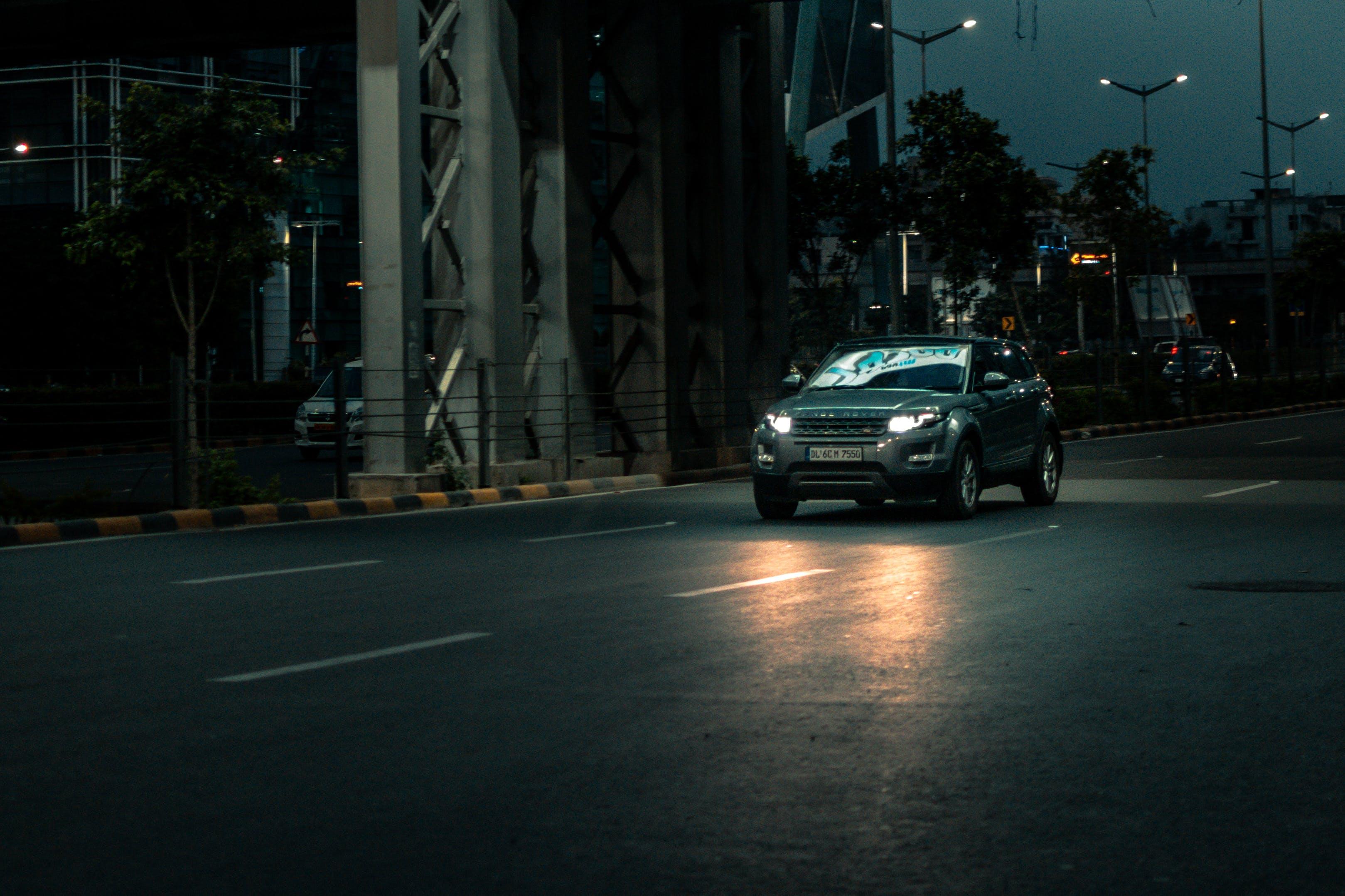 Free stock photo of caar, city, night, range rover