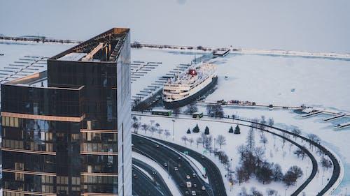 交通系統, 停泊, 冬季, 商業 的 免费素材照片