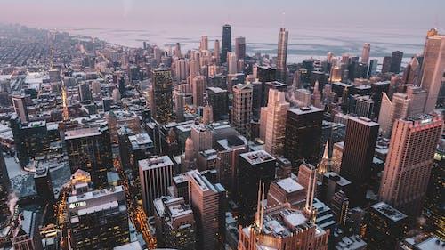 Ảnh lưu trữ miễn phí về bắn từ trên không, các tòa nhà, cảnh quan thành phố, đường chân trời