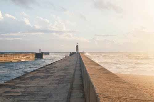 天空, 岸邊, 日落, 海 的 免费素材照片